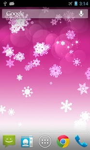 Snowflake Live Wallpaper - screenshot thumbnail