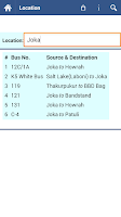 Screenshot of Kolkata Bus Info