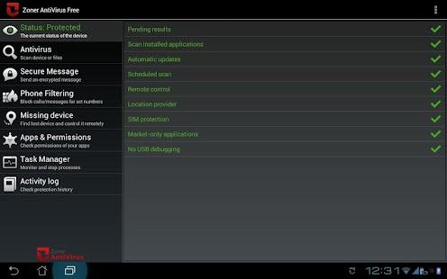 Zoner AntiVirus - Tablet- screenshot thumbnail