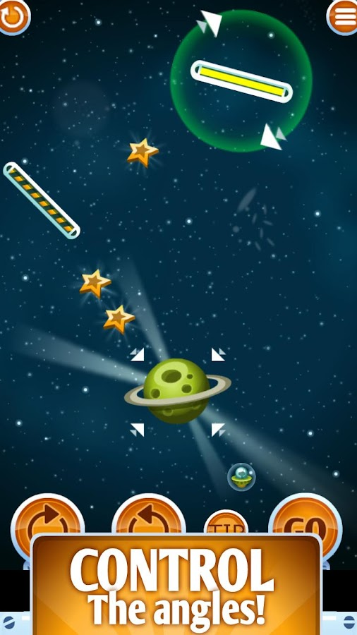 Galaxy Pool (physics game)- screenshot