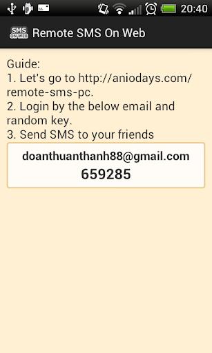 Send SMS On Web