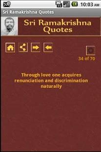 Sri Ramakrishna Quotes - screenshot thumbnail
