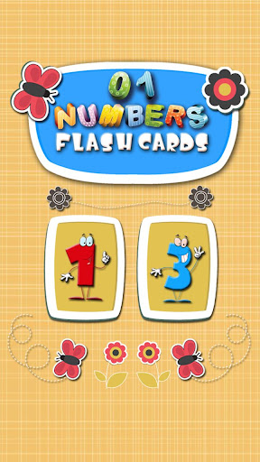123 Numbers Flash Cards 4 Kids