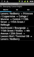 Screenshot of Saskatoon Bus Schedules