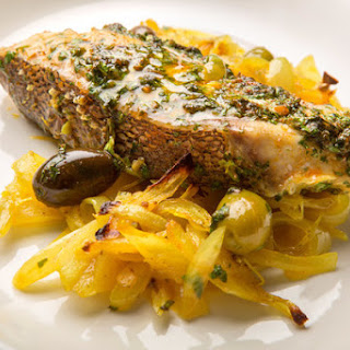 Moroccan Baked Fish With Onions