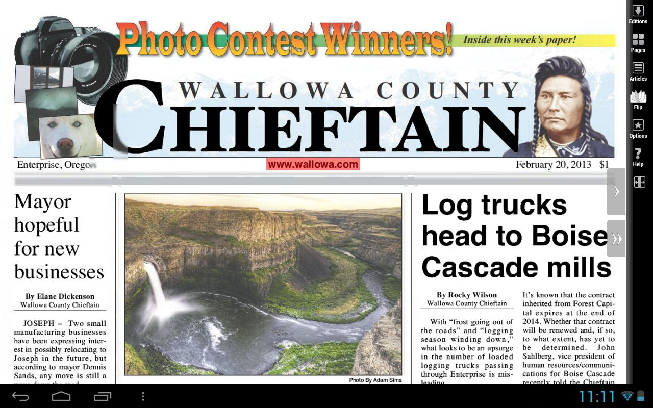 Wallowa County Chieftain - screenshot