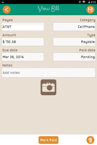 Bills Monitor Screenshot