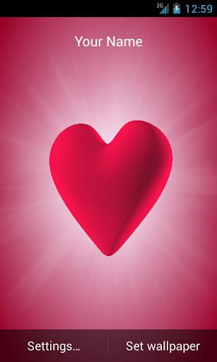 Beautiful heart in rays