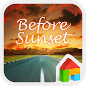 Sunset LINE Launcher Theme