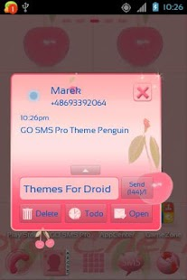 Theme Cherries for GO SMS Pro- screenshot thumbnail