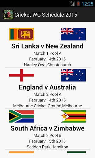 Cricket WC Schedule 2015