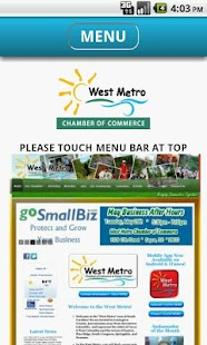 West Metro Chamber of Commerce - screenshot thumbnail