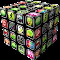 go launcher theme – 3D Cube logo