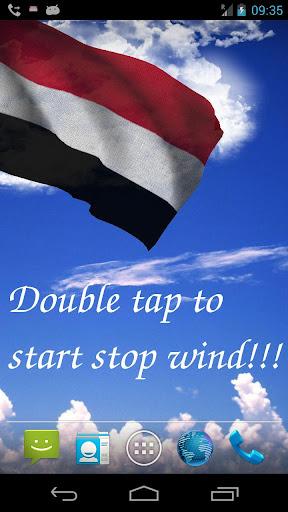 3D Yemen Flag Live Wallpaper +
