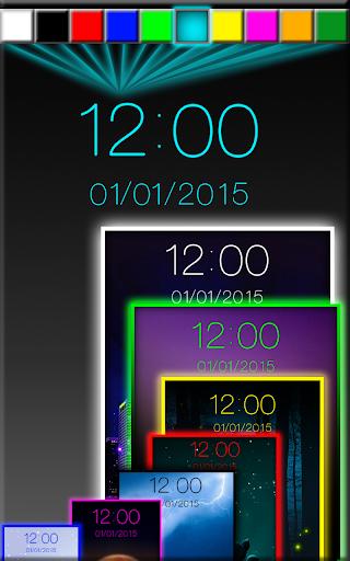 夜 デジタル時計