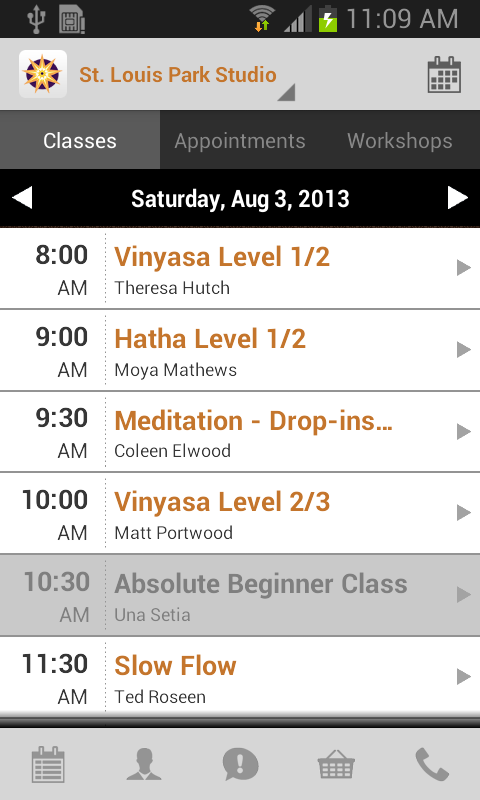 Yoga Center - screenshot