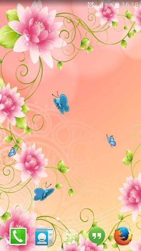 蝶のライブ壁紙