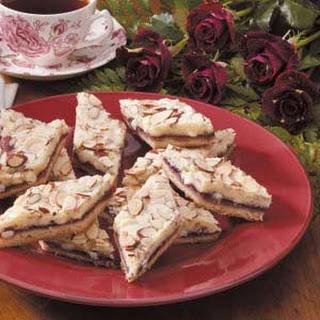 Almond Raspberry Diamonds