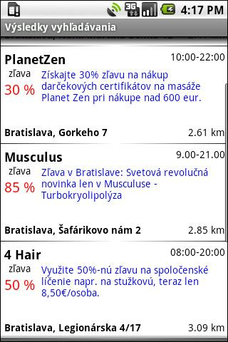 MOBIKA - ZlavoMapa- screenshot