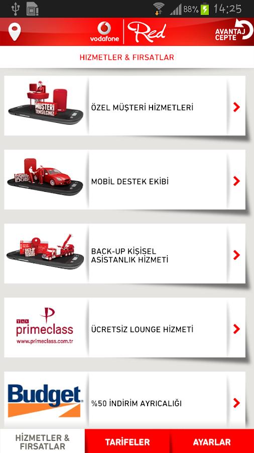 Vodafone Avantaj Cepte- screenshot