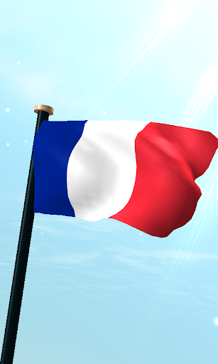France Flag 3D Live Wallpaper