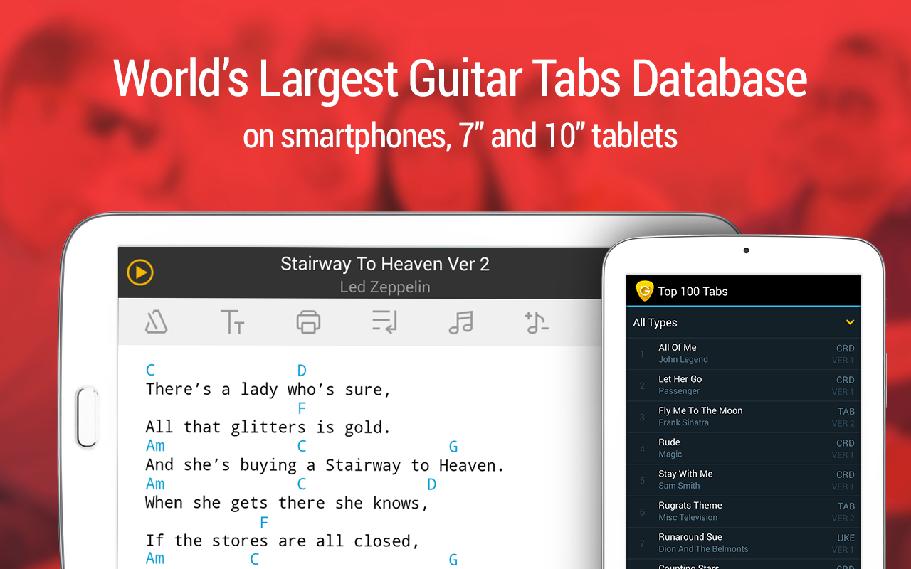 Guitar Tabs & Chords - screenshot