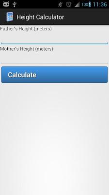 Height Calculator - screenshot