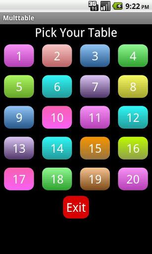 Kids Multiplication TimesTable