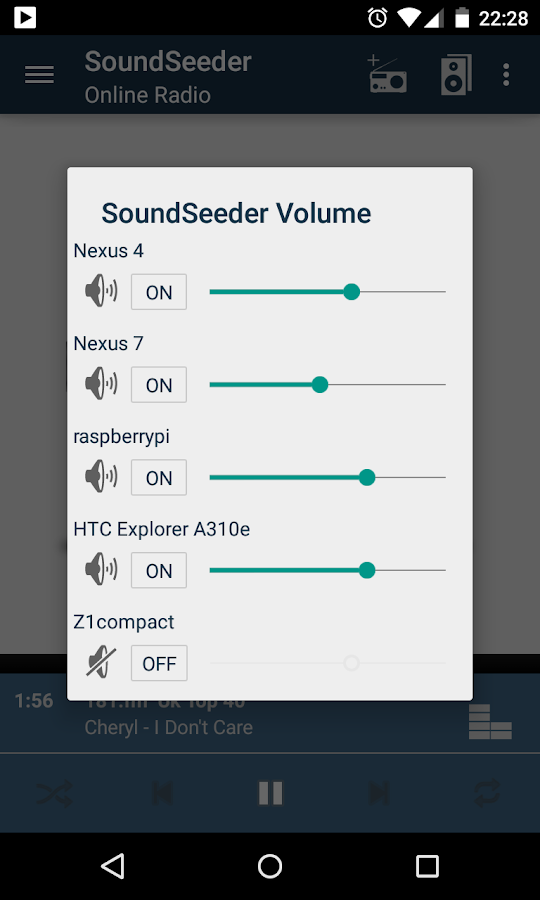 SoundSeeder Music Player- screenshot