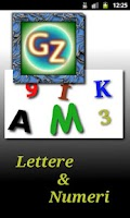 Screenshot of Letters & Numbers