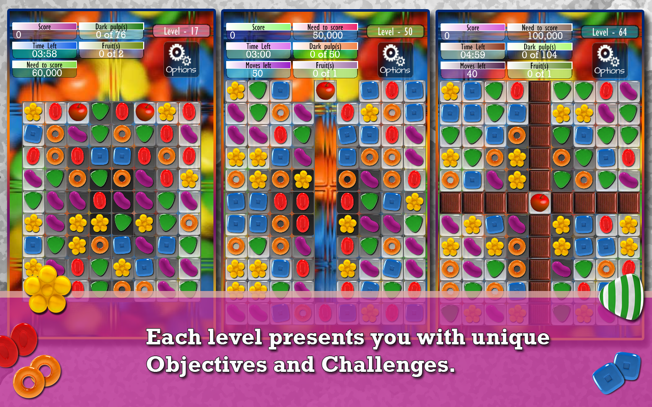 Candy Game -Match three puzzle - screenshot