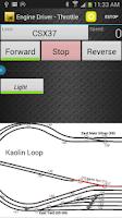Screenshot of Engine Driver JMRI Throttle