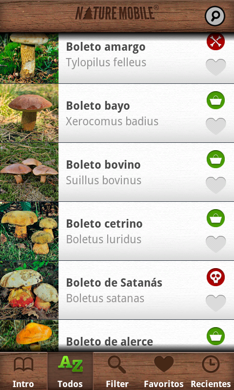 Setas PRO - NATURE MOBILE: captura de pantalla