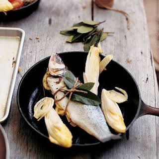 Grilled Branzino with Vegetables.