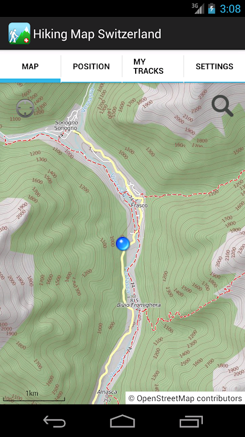 Hiking Map Switzerland- screenshot