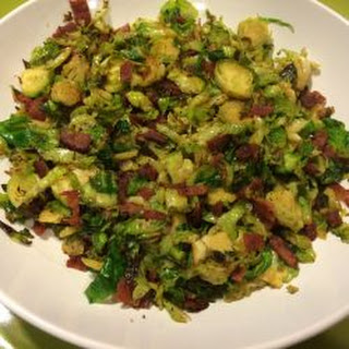 Shredded Brussels Sprouts with Turkey Bacon