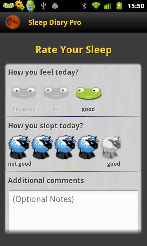 Sleep Diary Lite - screenshot