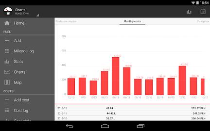 Fuelio: Fuel log & costs Screenshot 13