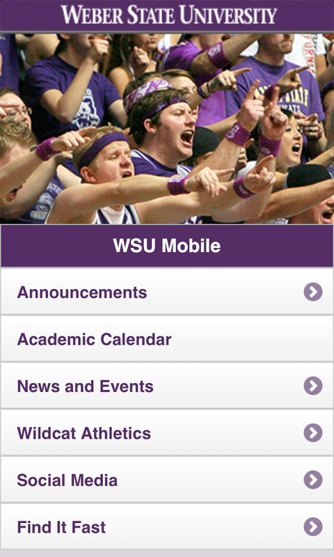 WSU Mobile - screenshot