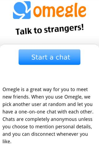 Omegle Android - screenshot