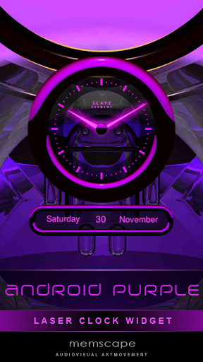 Laser Clock ANDROID PURPLE