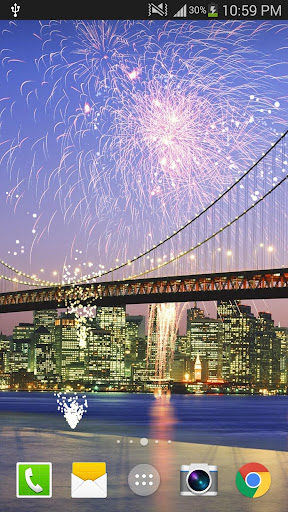 2019 Fireworks Live Wallpaper Free 1.0.5 screenshots 4