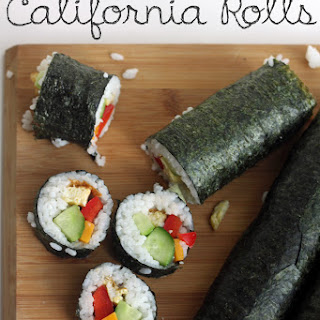 DIY Vegetarian California Rolls.