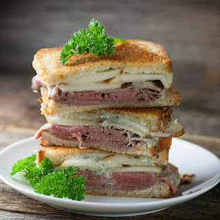 Grilled Roast Beef, Pear and Blue Cheese Sandwiches Recipe