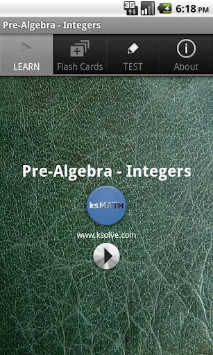 Pre-Algebra - Integers
