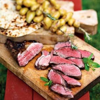 Grilled Lamb with Rosemary Potato Skewers Recipe