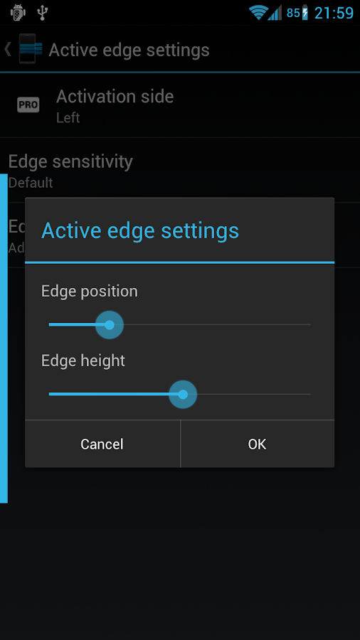 Edge - Quick Actions - screenshot