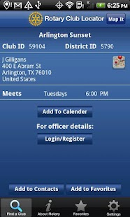 Rotary Club Locator. - screenshot thumbnail