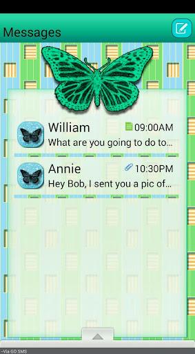Butterflies4 GO SMS THEME