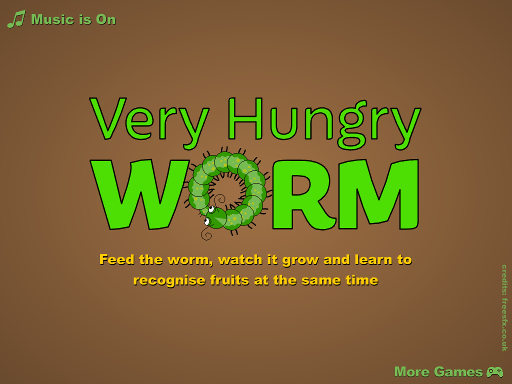 Very Hungry Worm For Kids - screenshot